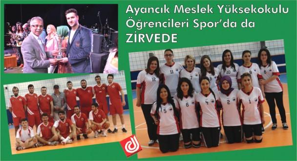 Ayancık Meslek Yüksekokulu Sinop Üniversitesi Spor Etkinliklerinde Yine Zirvede