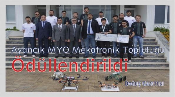 Ayancık MYO Mekatronik Topluluğu Ödüllendirildi