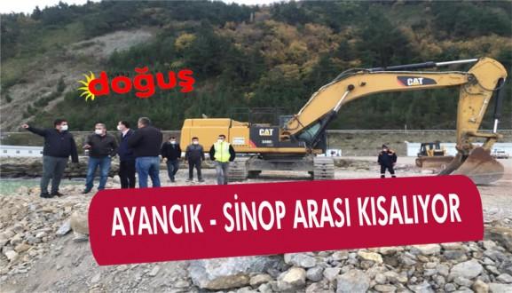 Ayancık – Sinop Yolu Kısalıyor