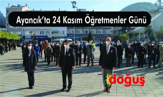 Ayancık'ta 24 Kasım Öğretmenler Günü