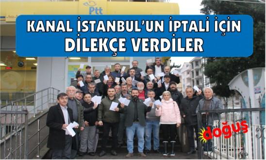 Ayancık'ta Ç.K.D. üyeleri Kanal İstanbul'un iptalini istedi