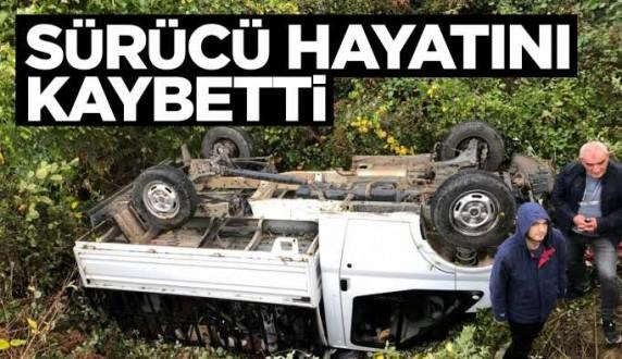 Ayancık'ta kamyonet devrildi: 1 ölü