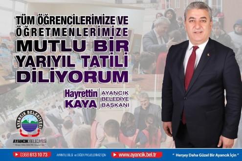 Başkan Kaya'dan yarıyıl tatili mesajı