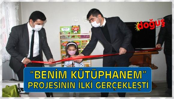 """""""BENİM KÜTÜPHANEM"""" PROJESİ KAPSAMINDA İLK KİTAPLIK KURULDU"""