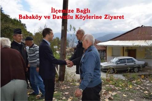 İlçemize Bağlı Babaköy ve Davutlu Köylerine Ziyaret