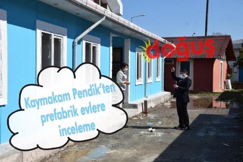 Kaymakam Pendik'ten prefabrik evlere inceleme