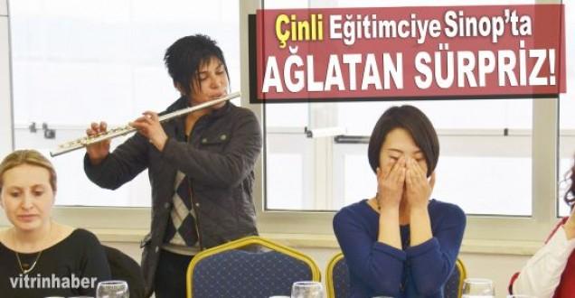 Sinop'ta Çinli öğrenciye ağlatan sürpriz
