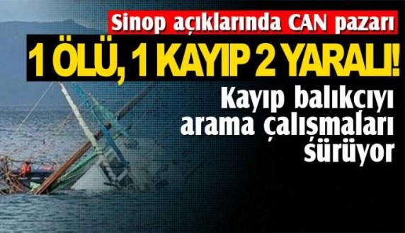 Sinopta kayıp balıkçıyı arama çalışmaları sürüyor