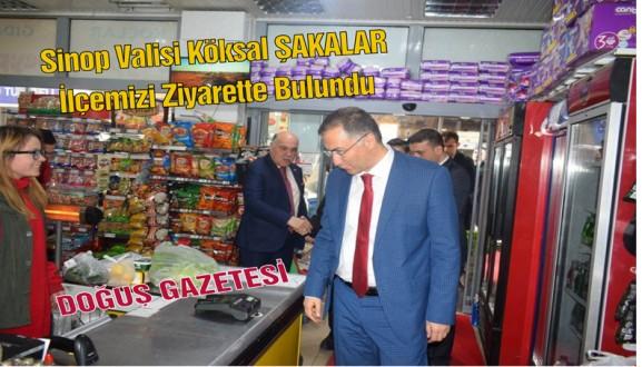 Sinop Valisi Köksal ŞAKALAR İlçemizi Ziyarette Bulundu
