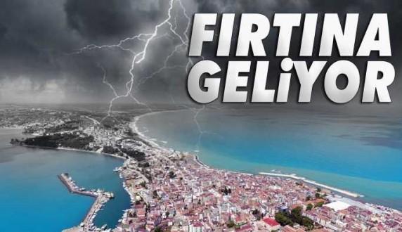 Sinop ve çevresinde şiddetli fırtına uyarısı