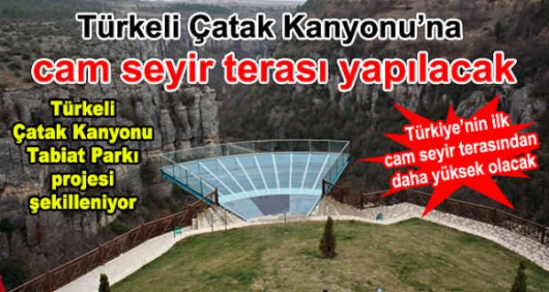 Türkeli Çatak Kanyonu'na cam seyir terası yapılacak