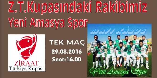 Türkiye Kupası Sinop Temsilcimiz, Yeni Amasya Spor ile Karşılaşacak
