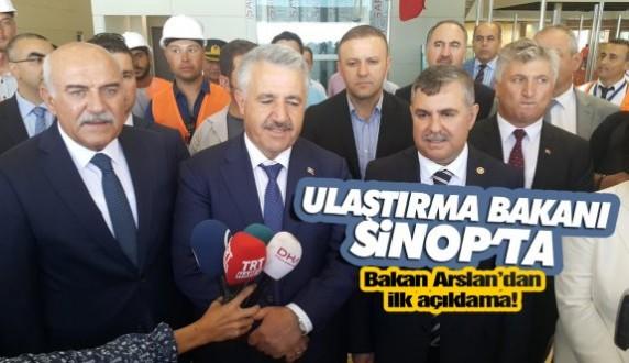 Ulaştırma Bakanı Arslan Sinopta