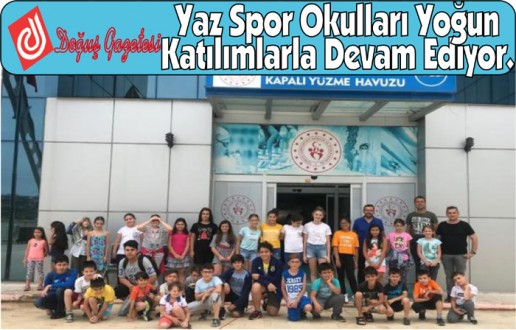 Yaz Spor Okulları Yoğun Katılımlarla Devam Ediyor.